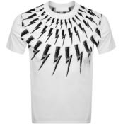 Product Image for Neil Barrett Thunderbolt T Shirt White