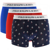 Product Image for Ralph Lauren Underwear 3 Pack Boxer Trunks Red