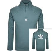 Product Image for adidas Originals Half Zip Trefoil Logo Sweatshirt