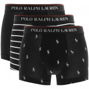 Product Image for Ralph Lauren Underwear 3 Pack Boxer Trunks Black