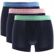 Product Image for Ralph Lauren Underwear 3 Pack Boxer Trunks Navy