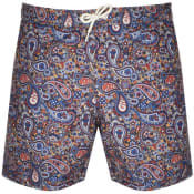 Product Image for Pretty Green Paisley Print Swim Shorts Navy
