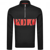 Product Image for Ralph Lauren Half Zip Sweatshirt Black