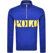 Product Image for Ralph Lauren Half Zip Sweatshirt Blue