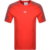 Product Image for adidas Originals Sport 3 Stripe T Shirt Red