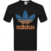 Product Image for adidas Originals Trefoil Ombre T Shirt Black