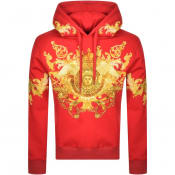 Product Image for Versace Jeans Couture Pullover Logo Hoodie Red
