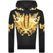 Product Image for Versace Jeans Couture Pullover Logo Hoodie Black