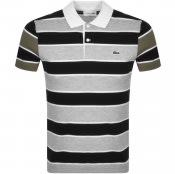 Product Image for Lacoste Striped Short Sleeved Polo T Shirt Black