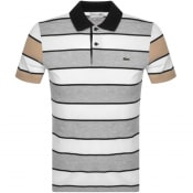 Product Image for Lacoste Striped Short Sleeved Polo T Shirt White