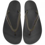 Product Image for Emporio Armani Logo Flip Flops Green