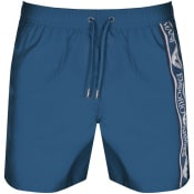 Product Image for Emporio Armani Logo Swim Shorts Blue
