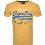 Product Image for Superdry Vintage Logo T Shirt Yellow