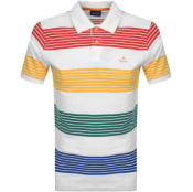 Product Image for Gant Multistripe Rugger Polo T Shirt White
