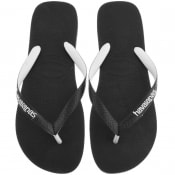 Product Image for Havaianas Top Mix Logo Flip Flops Black