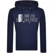 Product Image for Armani Exchange Logo Hoodie Navy