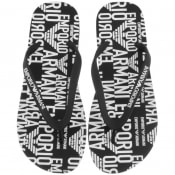 Product Image for Emporio Armani Logo Flip Flops Black