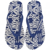 Product Image for Emporio Armani Logo Flip Flops Blue