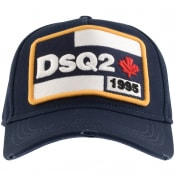 Product Image for DSQUARED2 Logo Patch Baseball Cap Navy