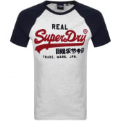 Product Image for Superdry Vintage Logo Raglan T Shirt Grey