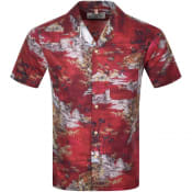 Product Image for Replay Short Sleeved Print Shirt Red
