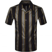 Product Image for Fred Perry Stripe Short Sleeved Shirt Black