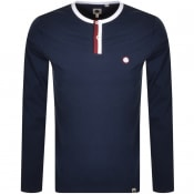 Product Image for Pretty Green Tilby Grandad Collar T Shirt Navy