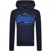 Product Image for Superdry Vintage Chenille Hoodie Navy