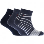 Product Image for Tommy Hilfiger Three Pack Quater Socks Blue