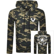 Product Image for True Religion Camo Zip Hoodie Green