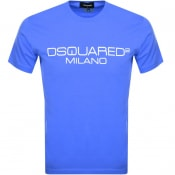 Product Image for DSQUARED2 Milano Logo T Shirt Blue