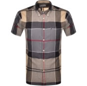 Product Image for Barbour Douglas Check Short Sleeved Shirt Beige