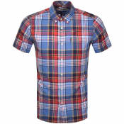 Product Image for Barbour Madras 9 Check Short Sleeved Shirt Blue