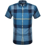Product Image for Barbour Douglas Check Short Sleeved Shirt Blue