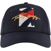 Product Image for Tommy Hilfiger Flag Signature Baseball Cap Navy
