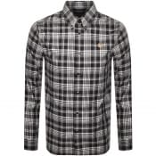 Product Image for Fred Perry Monochrome Check Long Sleeved Shirt Bla