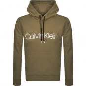 Product Image for Calvin Klein Logo Hoodie Green