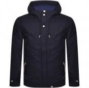Product Image for Pretty Green Crinkle Nylon Hooded Jacket Navy