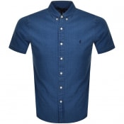 Product Image for Ralph Lauren Slim Fit Short Sleeve Shirt Blue