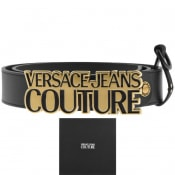 Product Image for Versace Jeans Couture Leather Logo Belt Black