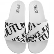 Product Image for Versace Jeans Couture Logo Sliders White