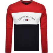 Product Image for Tommy Hilfiger Colour Block Sweatshirt Red