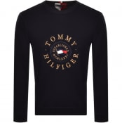 Product Image for Tommy Hilfiger Structured Logo Jumper Navy