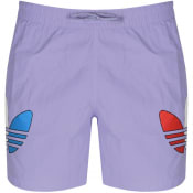 Product Image for adidas Originals Tricol Swim Shorts Purple