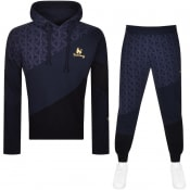 Product Image for Money Swish Cut Hooded Tracksuit Navy