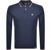 Product Image for Pretty Green Barton Long Sleeve Polo Shirt Navy