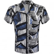 Product Image for BOSS Rhythm Short Sleeve Shirt Navy