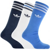 Product Image for Adidas Originals Three Pack Solid Crew Socks White