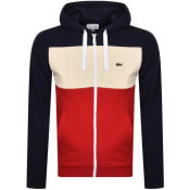 Product Image for Lacoste Full Zip Colour Block Hoodie Navy
