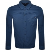 Product Image for CP Company Long Sleeved Overshirt Blue